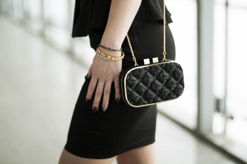 Zipped peplum dress
