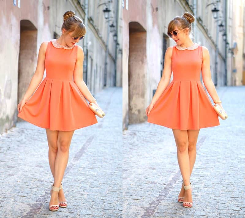 Pearl collared dress