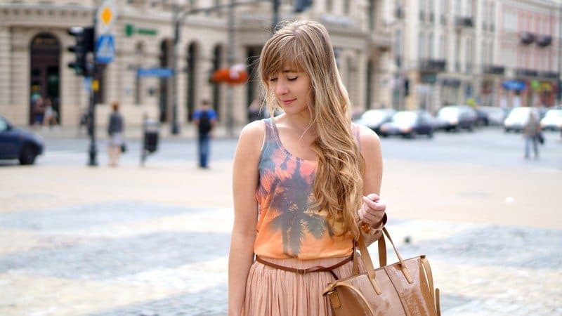 Nude Pink Pleated Maxi
