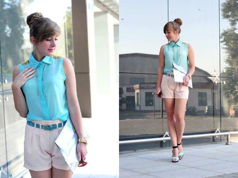 Mint spiky shirt