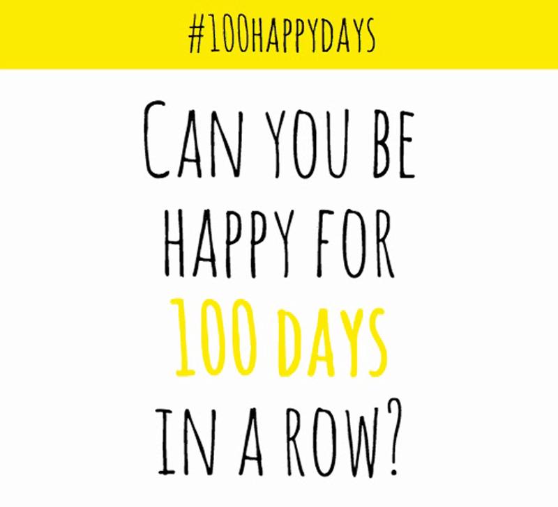 Wyzwanie 100 happy days! Bądź szczęśliwy przez 100 dni