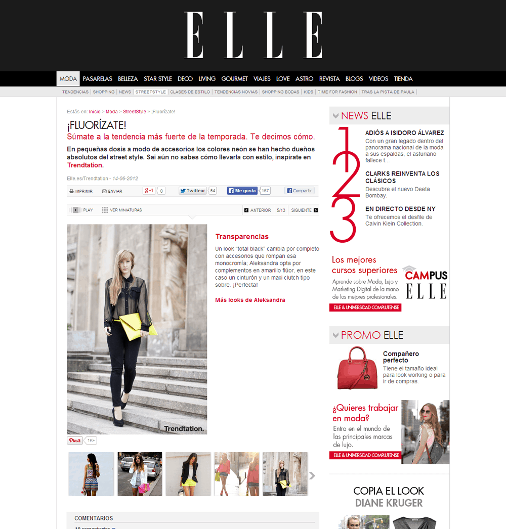 elle espana feature