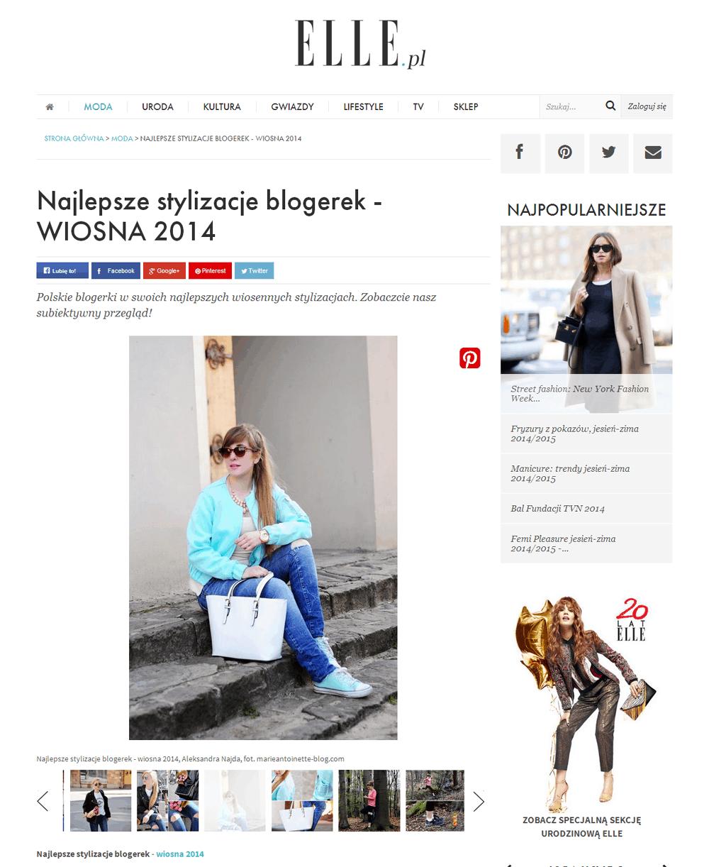 elle polska najlepsze wiosenne stylizacje blogerek