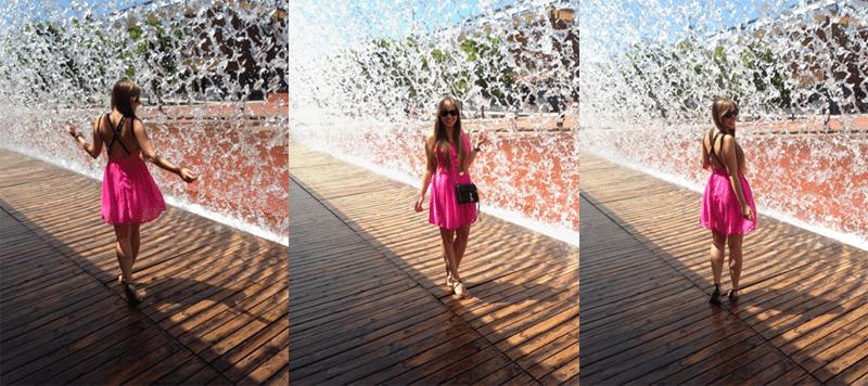 oceanarium w lisbonie różowa sukienka bez pleców