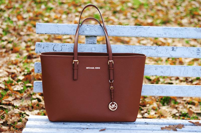 michael kors jet set travel ruda torba jesień blogerki