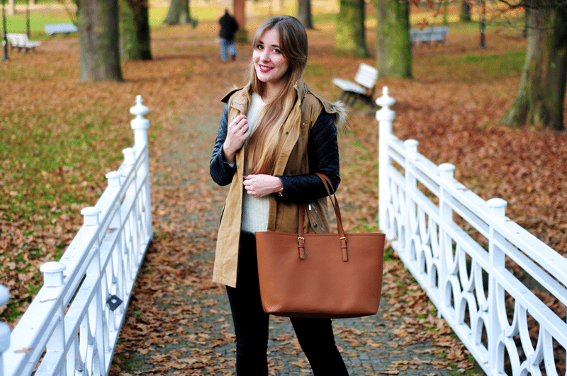 nałęczów park spacer jesienny blogerki parka na jesień blogerka kors michael jet set