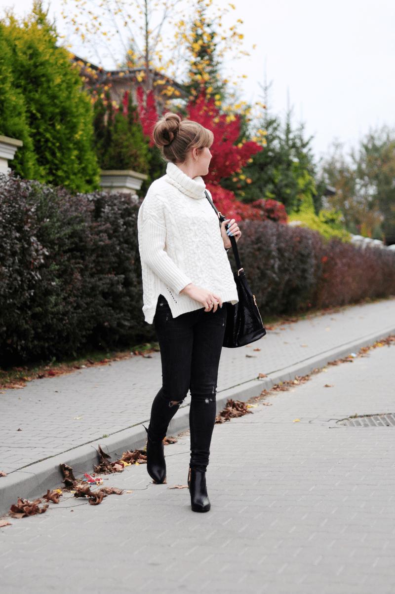 ootd duży sweter oversize