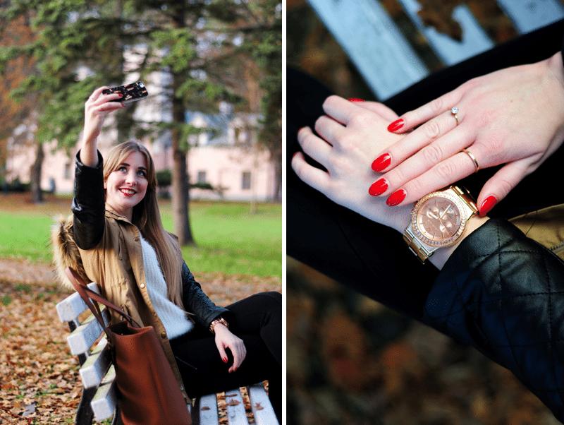 selfie instagram zegarek michael kors blogerki