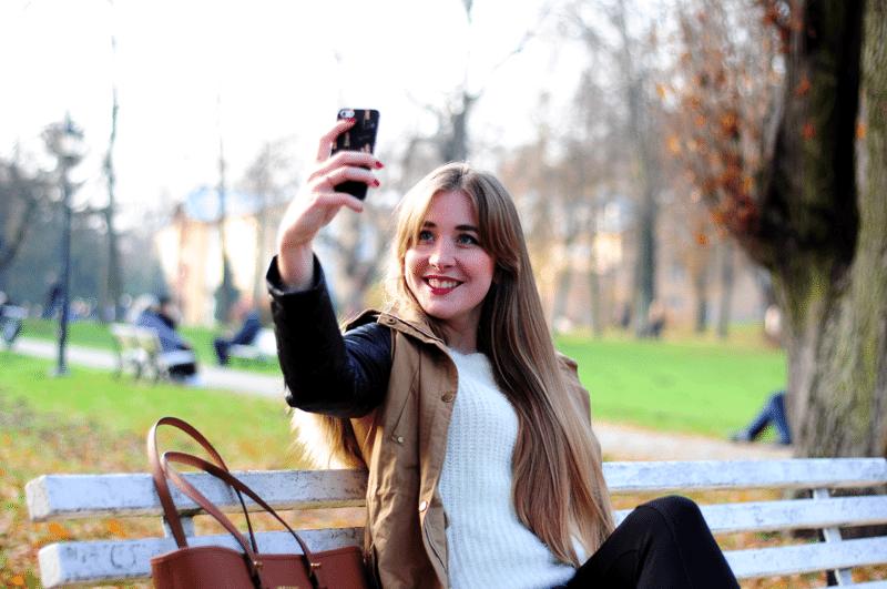 selfie time blogger blogerka michael kors iphone 5 czym robić zdjęcia