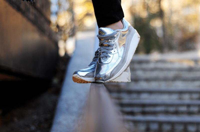 srebrne buty air max nice choies
