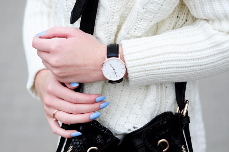 zegarek klasyczny prosty duża tarcza daniel wellington