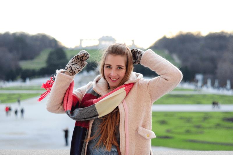 schonbrunn wiedeń różowy płaszczyk sheinside
