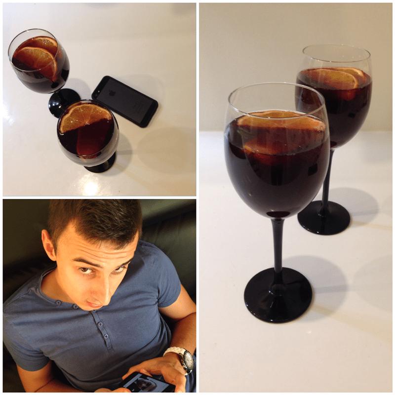 wino nangria tinto de verano z pomarańczami