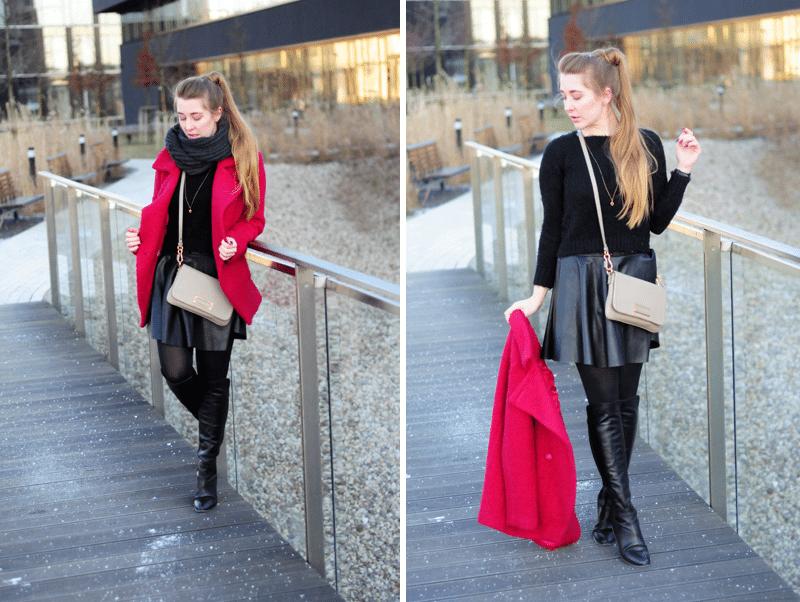 ootd fluffy sweater sweter włochaty puchaty czarny modny blogerka streetfashion