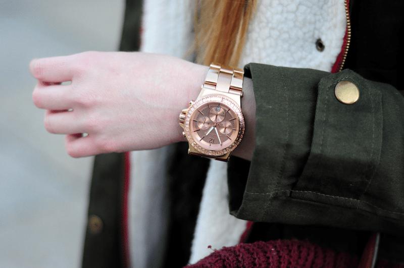złoty zegarek rose gold michael kors