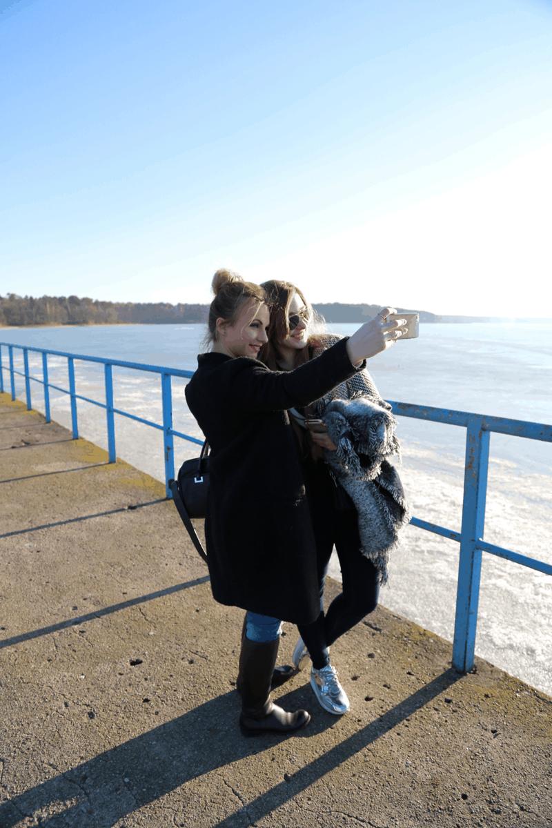 selfie ootd zalew blogerki lublin