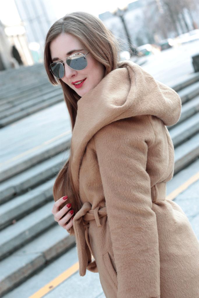 camelowy płaszcz warszawa ootd stylizacja na wiosnę sheinside