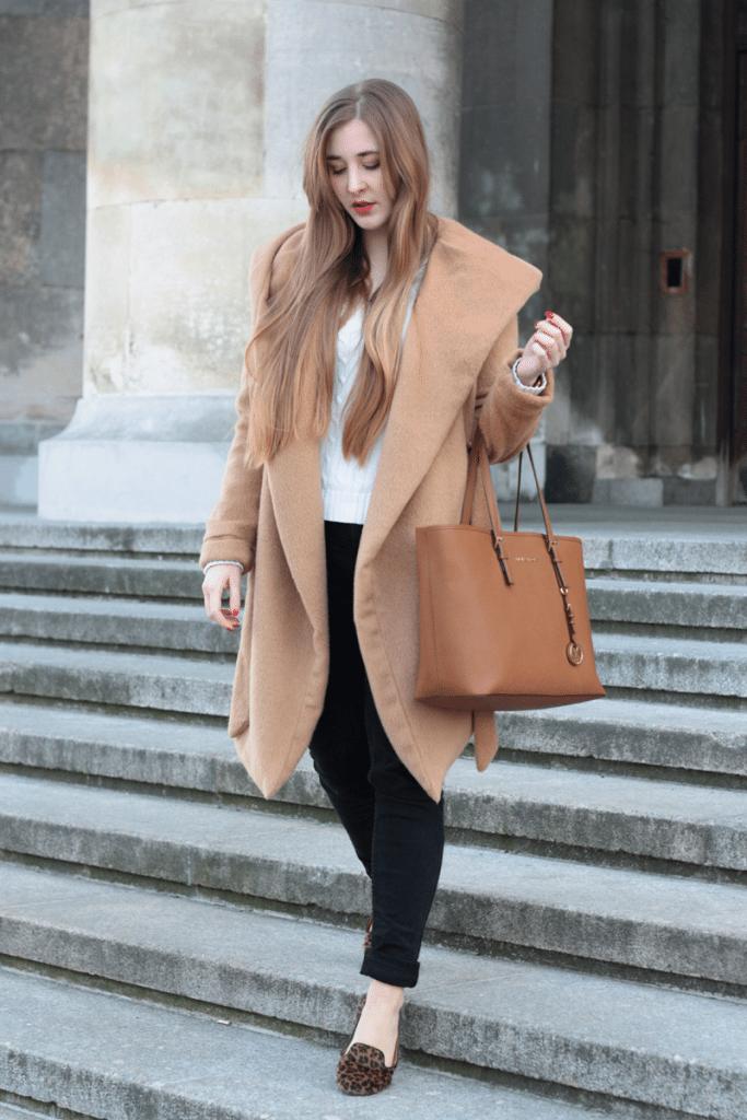 ootd camelowy płaszcz sheinside warszawa blogerki z warszawy