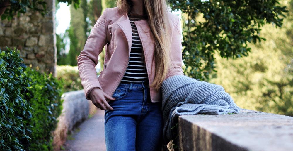sheinside powder jacket pastel kurtka różowa pudrowa sheinside