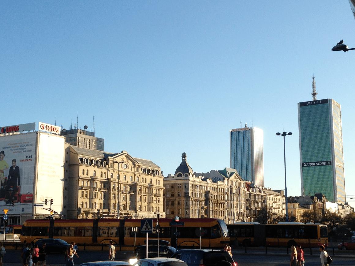 piękna Warszawa centrum horyzont