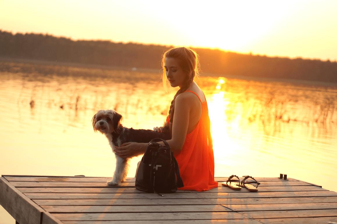 tosia instatosia jezioro piaseczno zachód słońca blog o modzie