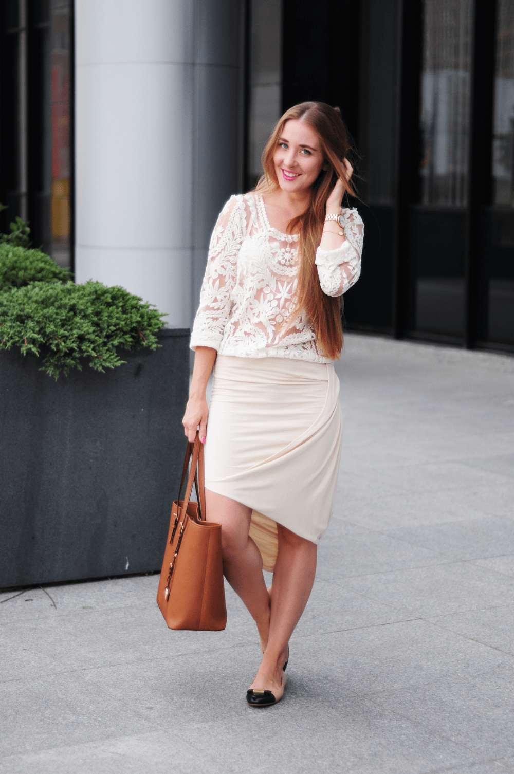 ootd smile nude marc jacobs michael kors