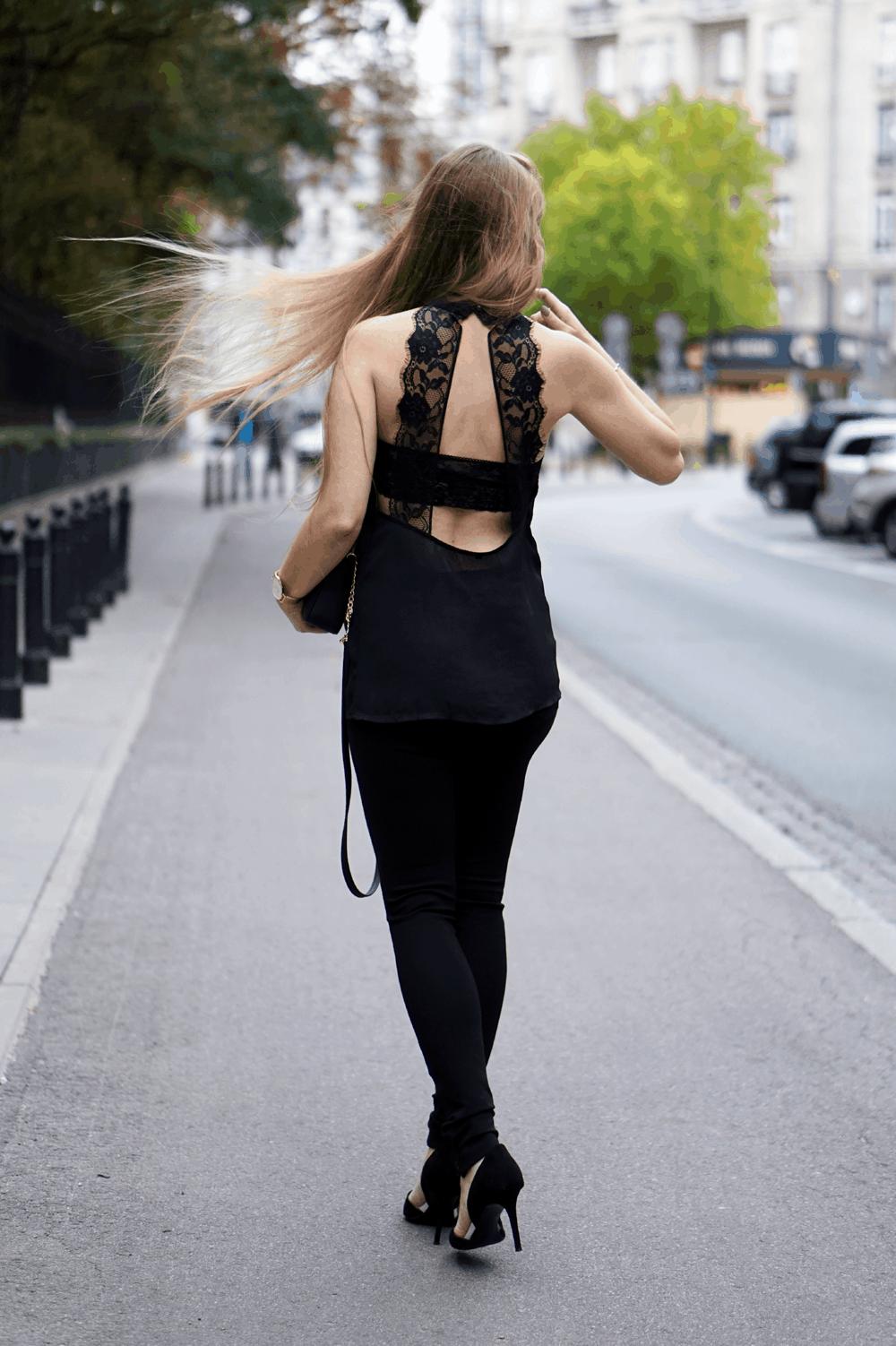 Total black: stylizacja na jesienny dzień