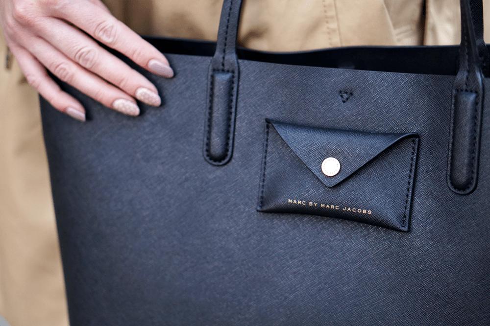 monnierefreres czarna torba shopper marc by marc jacobs
