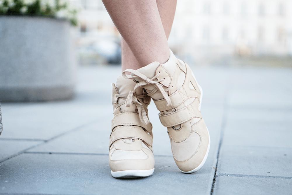 wedged sneakers ami clubwear