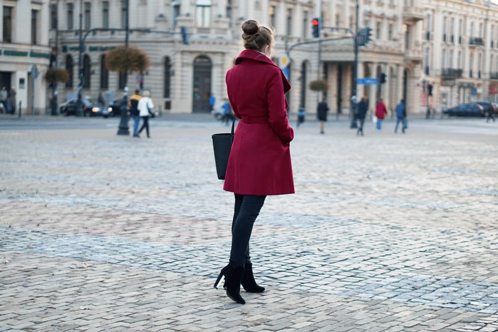 jesienny płaszcz szlafrokowy F&F