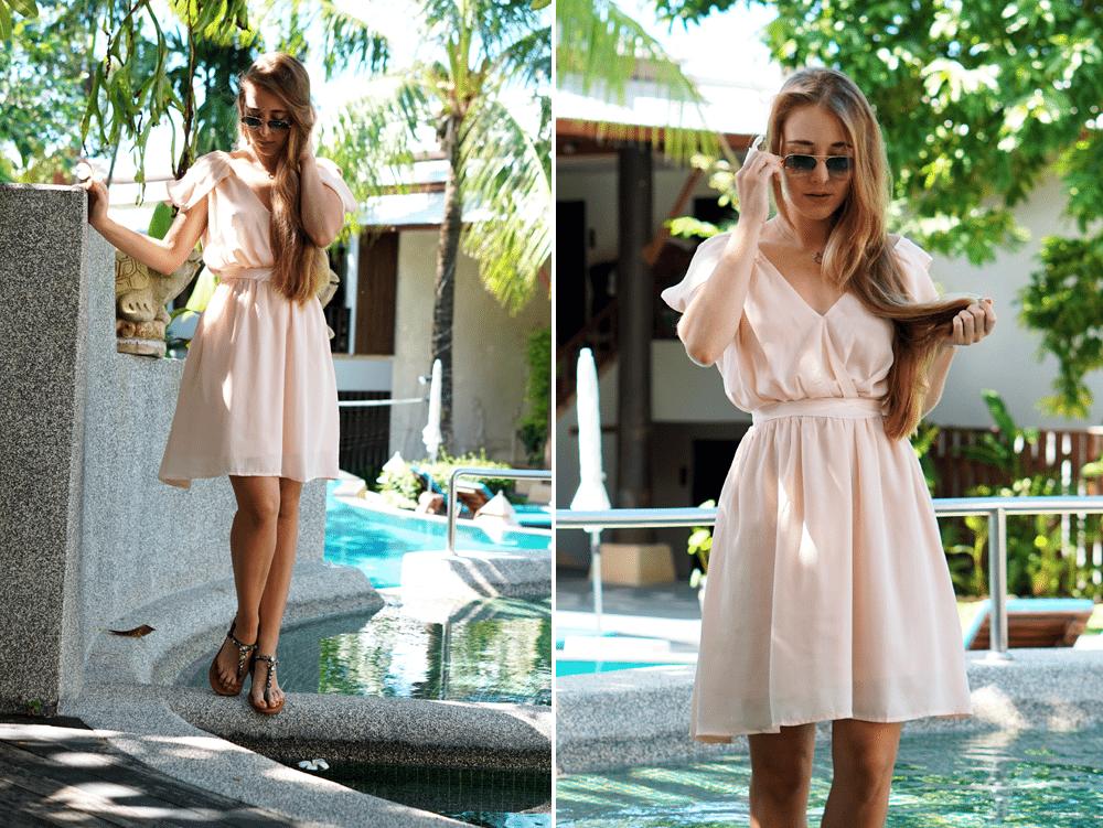 ootd phuket sukienka na lato tajlandia zimą