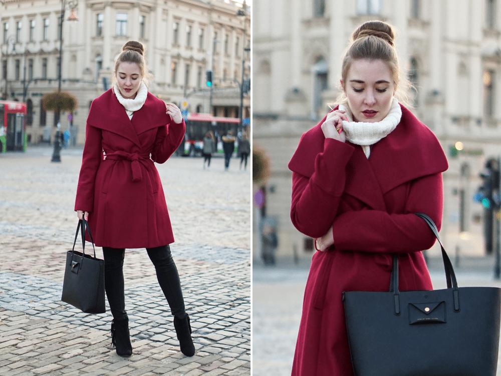 zestaw na jesienny zimny dzień płaszcz F&F