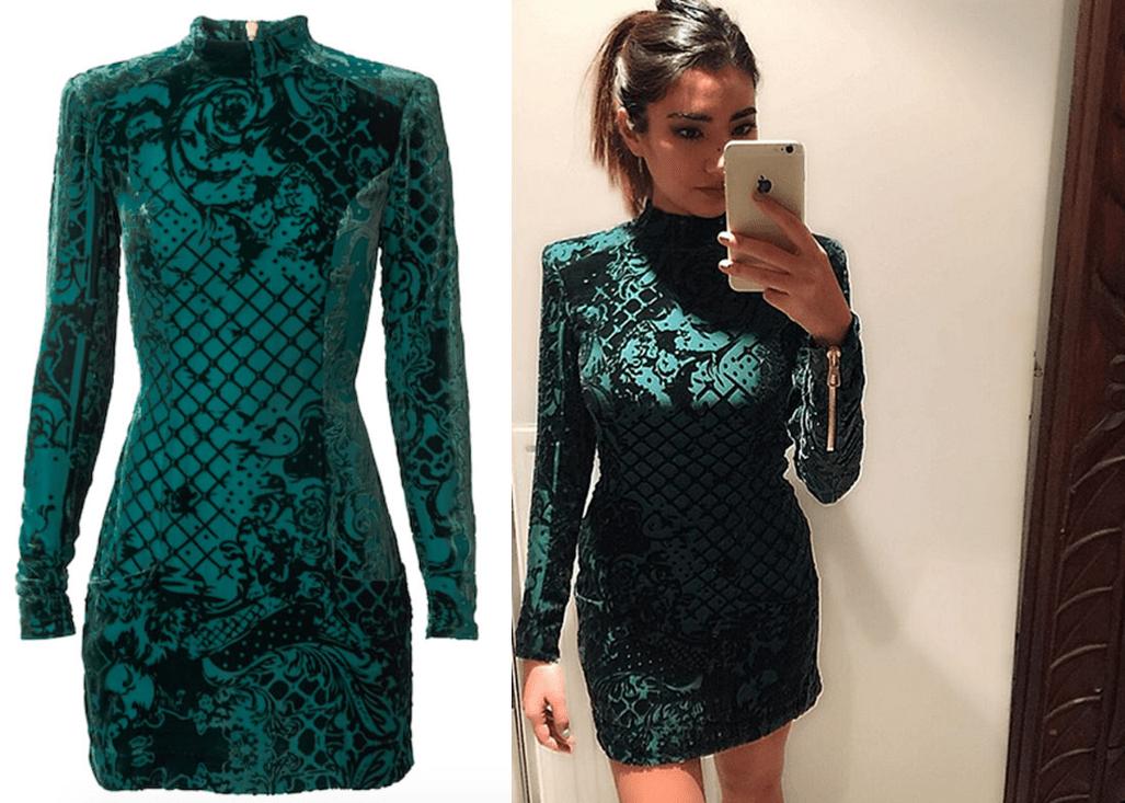 zielona sukienka balmain dla H&M real foto