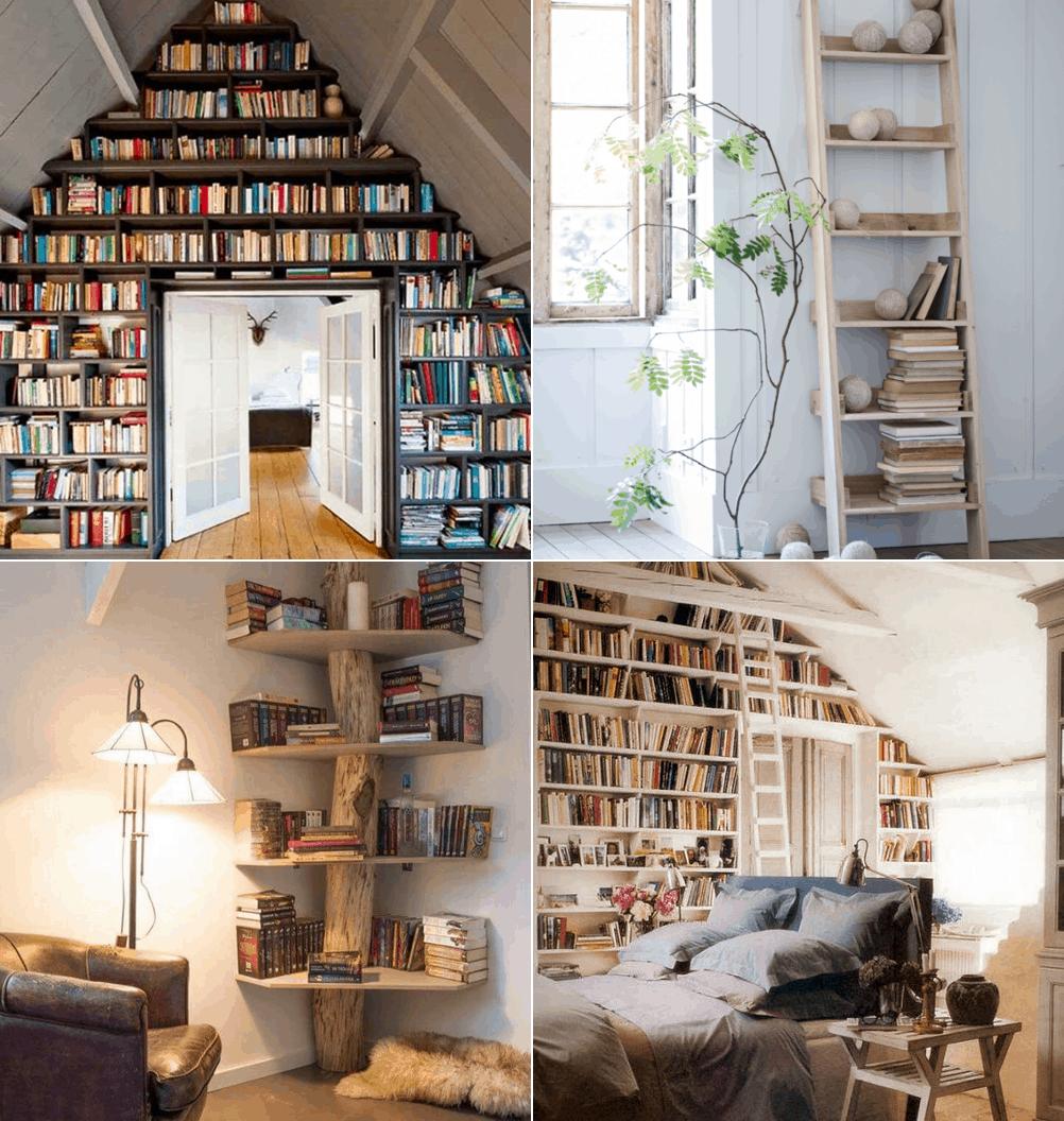 12 kreatywnych sposobów na przechowywanie książek: inspiracje