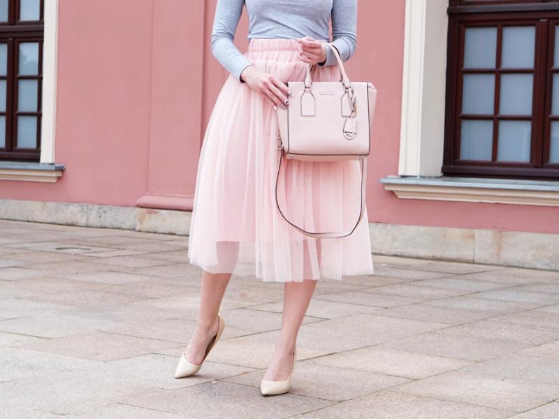 różowa tiulowa spódnica sheinside