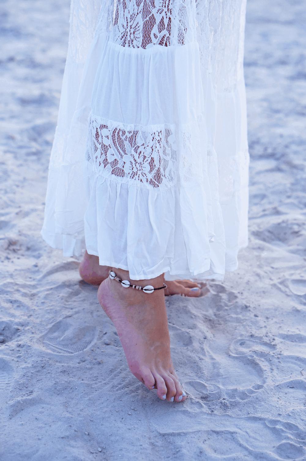 muszelki plaża boho
