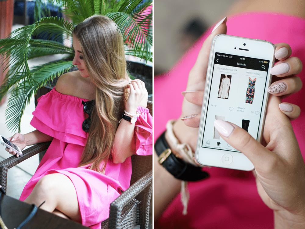 aplikacja domodi przegląd sukienek na jesień