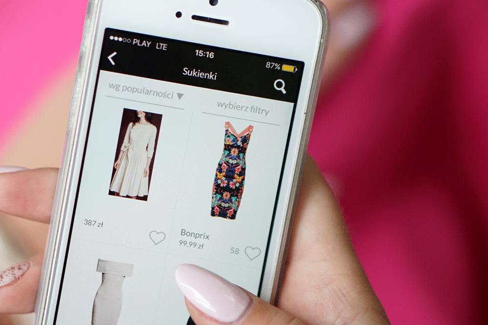 sukienki w aplikacji mobilnej domodi