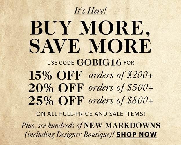 Black Friday is here! Czyli następna wielka wyprzedaż Shopbop – polowanie na prezenty do 25% taniej