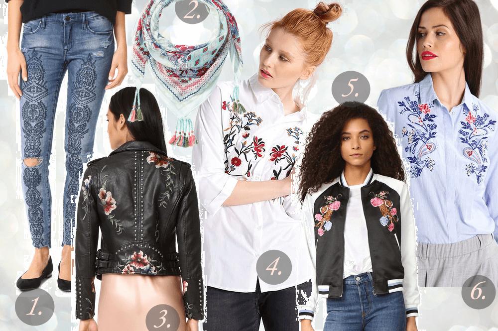 Haftowane ubrania na wiosnę – gdzie kupić najmodniejsze wzory?