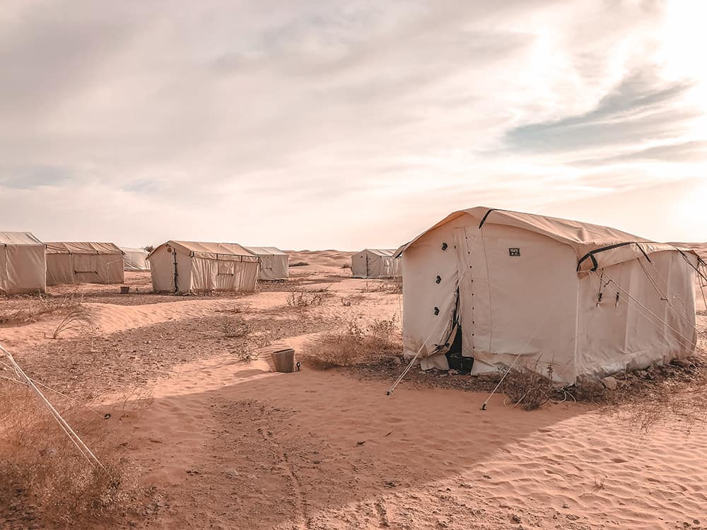 camping na pustyni Sahara tunezja