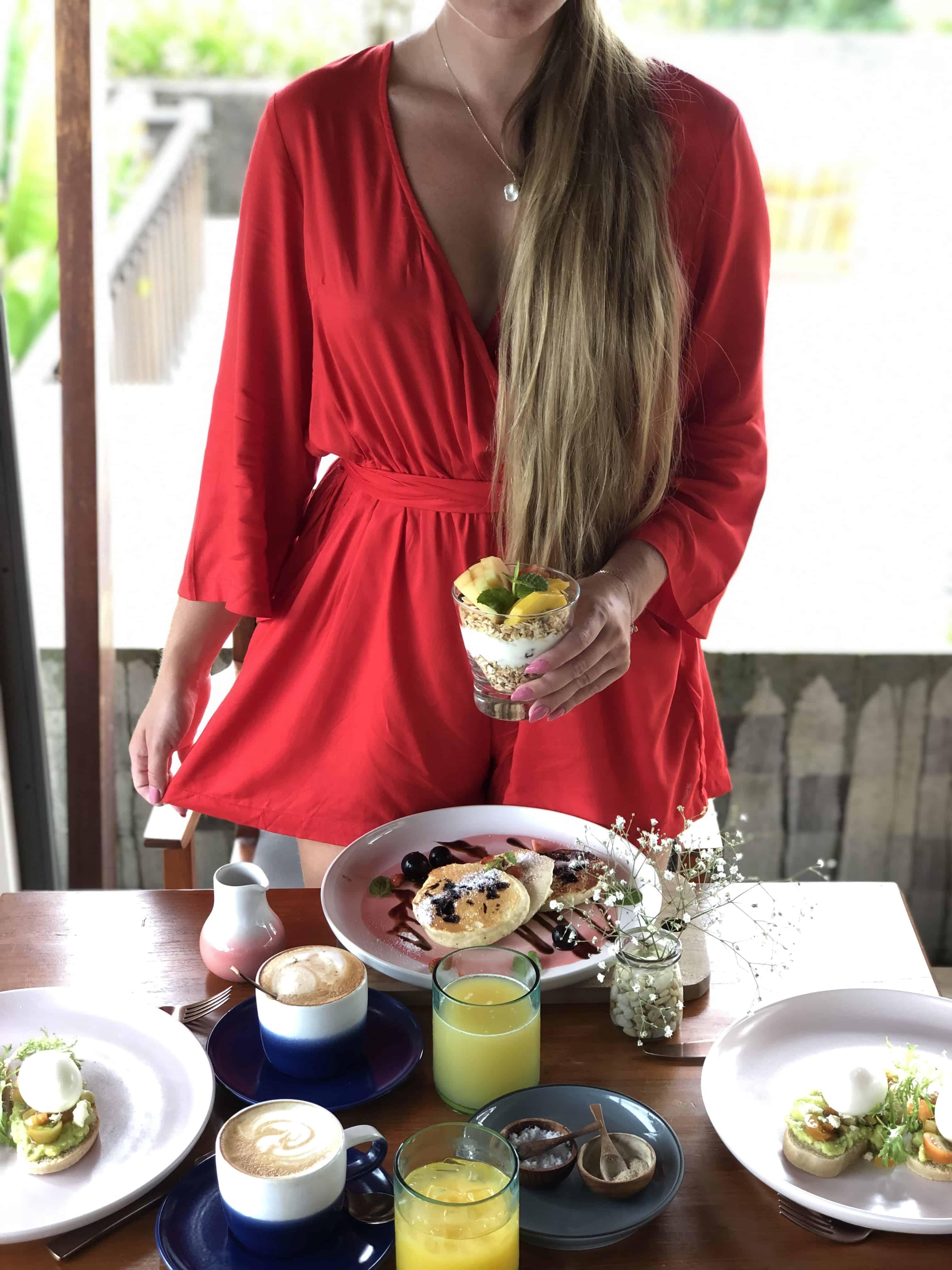 the tamarind hotel Lembongan breakfast