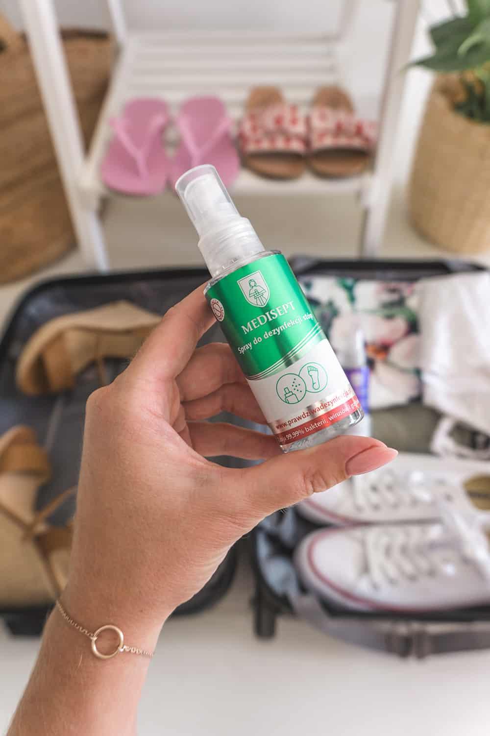 Medisept spray do dezynfekcji buty na podróż