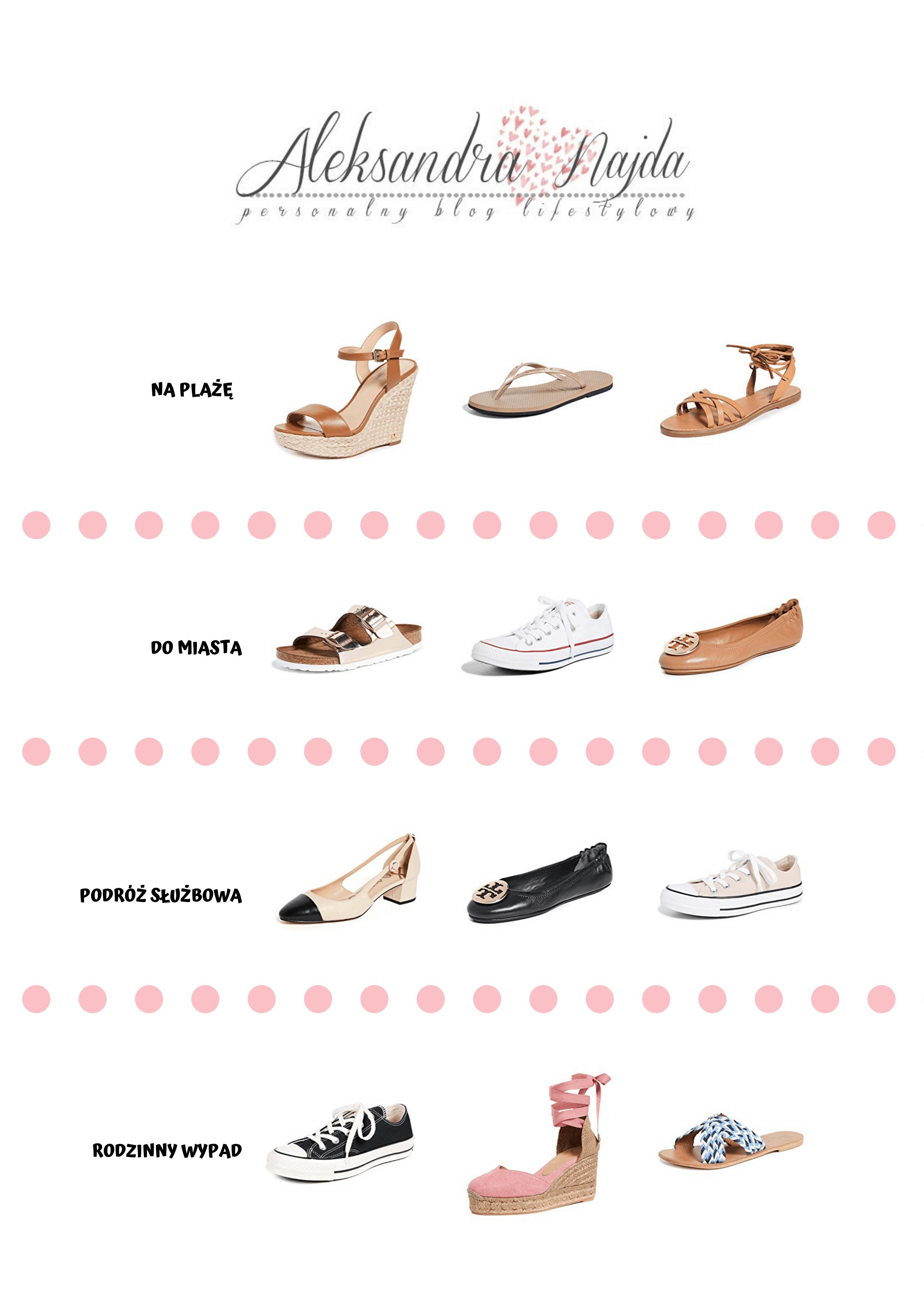 jakie buty spakować na podróż